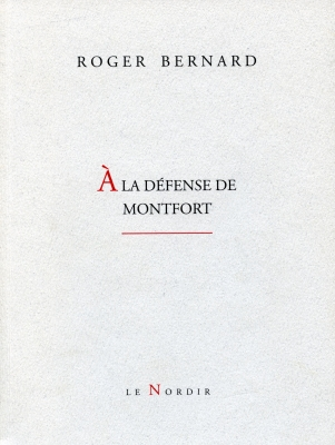 Cover of a document printed in French. The name of the author and the title appear in capital letters on a white background. The initial letter of the title is slightly larger, in red. The title is also underlined in red. The name of the publisher is positioned at the bottom of the page.