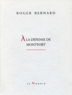 Page couverture d'un document imprimé, en français. Le nom de l'auteur et le titre sont inscrits en lettres majuscules, sur fond blanc. La lettrine du titre est en rouge. Le nom de la maison d'édition figure au bas de la page.