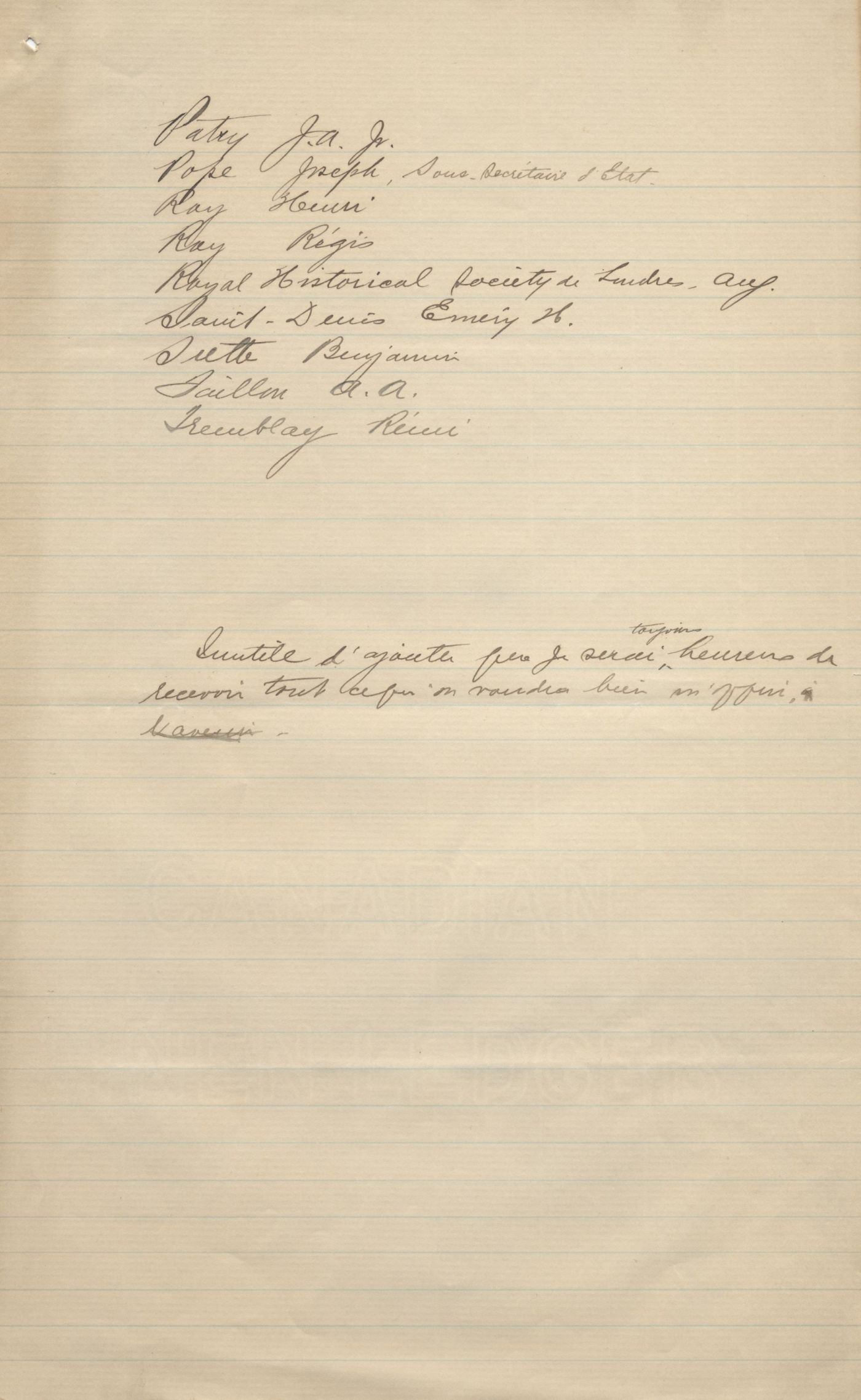 Report written by hand in French, with corrections and additions in pencil. It includes a list of donors and a list of newspapers and magazines that are part of the collection. It is signed by the librarian in Ottawa, in October 1897.