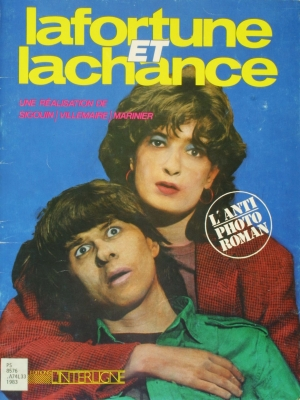 Colour cover of a French book. It features a young man's head resting on a middle-aged woman's shoulder, her arm around him. He looks up, eyes staring; she looks directly at the camera. The title is in yellow and white on an electric blue background, along with the name and logo of the publisher.